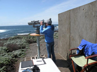 Powerful telescope for whale research