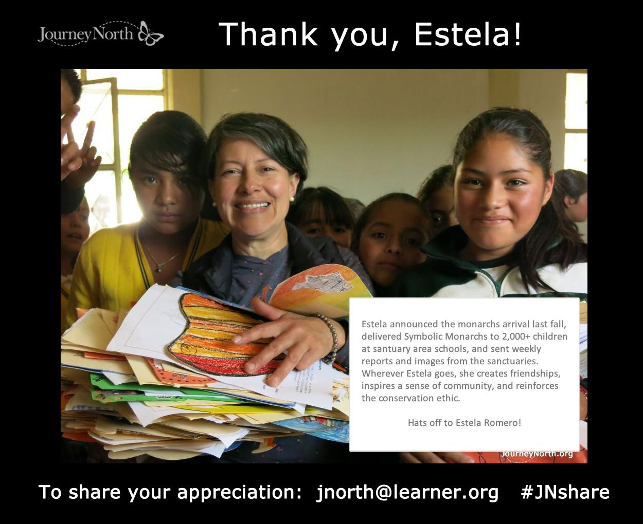 Share Appreciation for Estela Romero