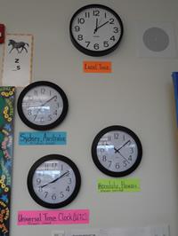Clocks in the classroom