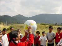 globe-toss game