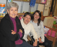 Estela, with her mother Lolita, and daughter Emilia.