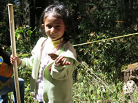 Girl at El Rosario Monarch Sanctuary in Mexico