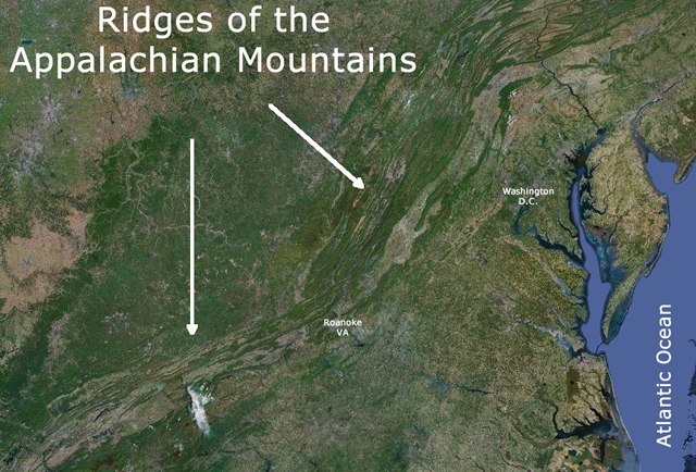 Ridges of the Appalachian Mountains