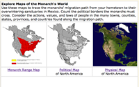 Explore maps of the monarch's world
