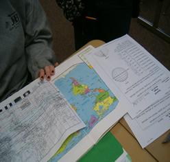 Student working with Atlas