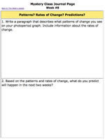 Worksheet | Photoperiod Patterns, Predictions and Rates of Change