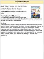 Book review sample