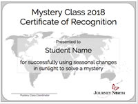 Mystery Class Certificate