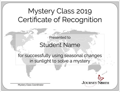 Mystery Class Certificate