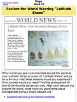Worksheet | Exploring the World Wearing Latitude Shoes