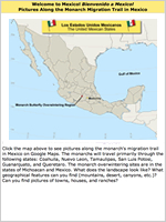 Map of Mexico: Which states do monarch butterflies cross during migration?
