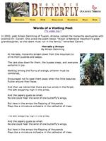 Poem: Monarchs in Mexico