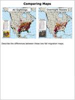 Compare fall migration maps