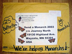 We're helping  monarchs!