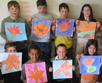 Students and their art