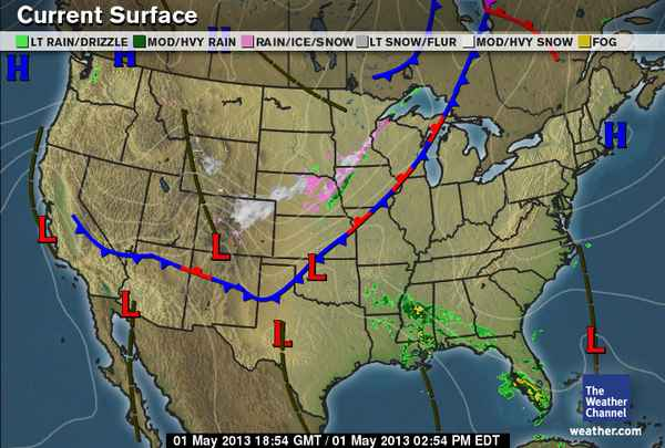 Weather map 4/17/13