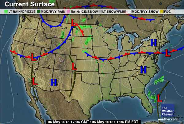 weather map April 1, 2015