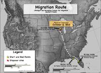 Migration progress map as of Oct. 14, 2013