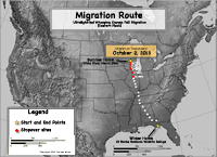 Migration progress map as of Oct. 21, 2013