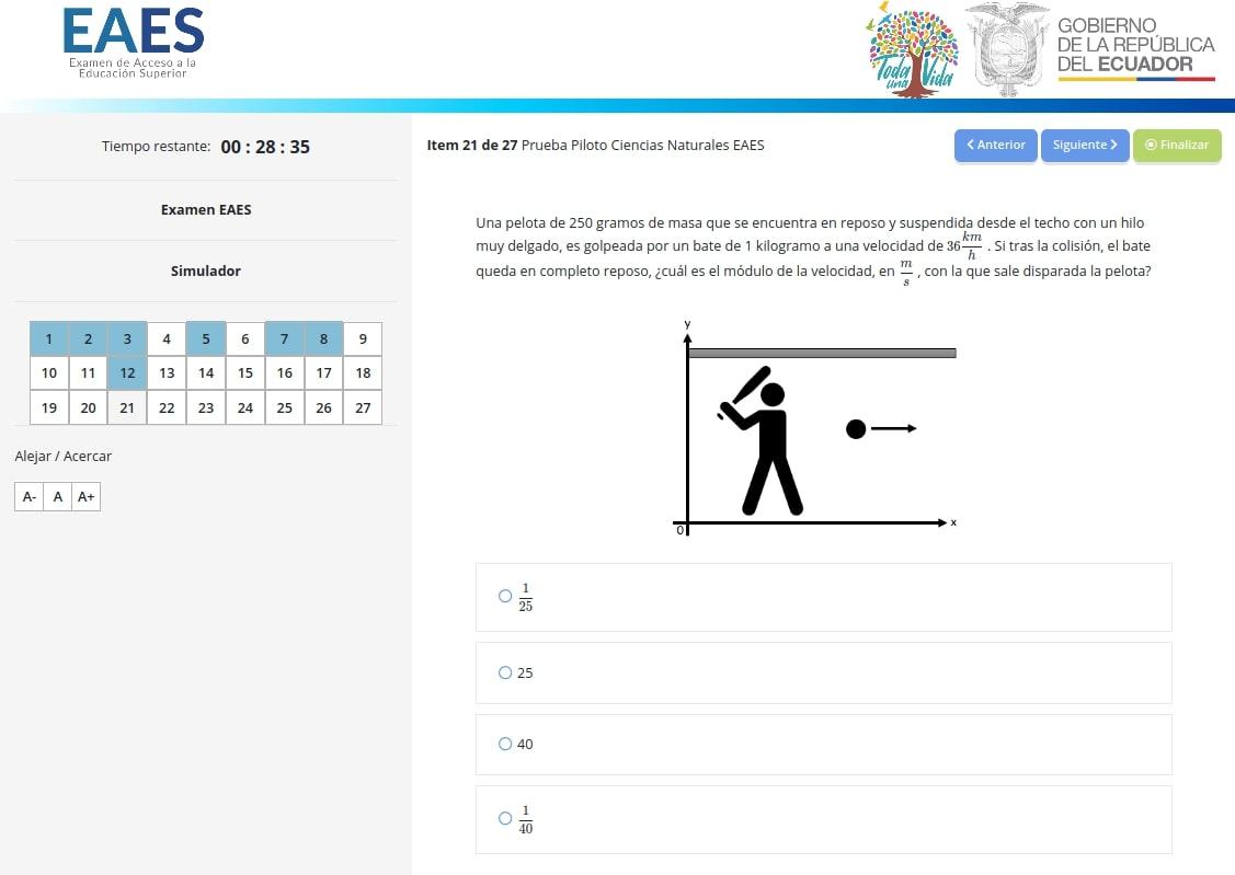 Simulador Examen Ser Bachiller
