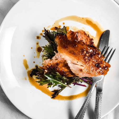 Tangerine Honey Glazed Salmon