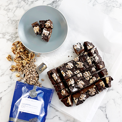 Cocoa and Walnut Pinto Fudge
