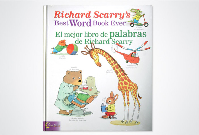 <p><em>Richard Scarry's Best Word Book Ever, El mejor libro de palabras de Richard Scarry</em>, Luna Rising, 2005. Art direction &amp; book design.</p>