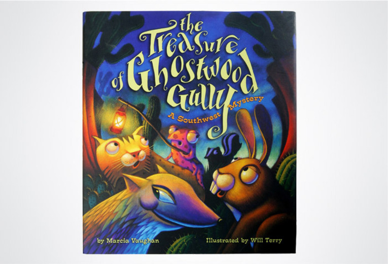 <p><em>The Treasure of Ghostwood Gully: A Southwest Mystery, </em>Rising Moon, 2004. Book design.&nbsp;</p>