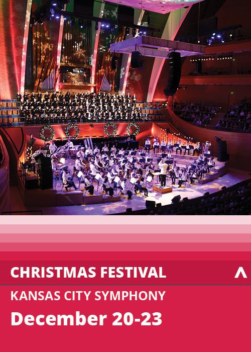 Santa Claus performing at the Symphony Christmas Festival