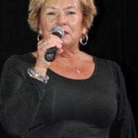 MC Sherry Boyd at the 2016 Jekyll Island Bluegrass Festival - photo by Bill Warren
