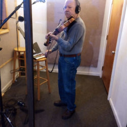 Bobby Hicks recording with Asheville Grass at Crossroads Studio