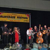 Grand finale at the 2016 Jekyll Island Bluegrass Festival - photo by Bill Warren