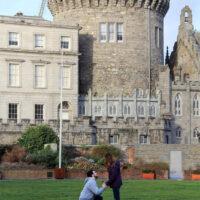 Nick Dumas proposes to his girlfriend, Hana Rass, at Dublin Castle January 10, 2017