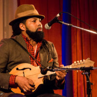 Ben Hunter on mandolin at Wintergrass 2017 - photo © Tara Linhardt