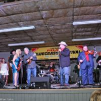 Daryle Singletary and RHonda Vincent's groups perform together at the February Palatka Bluegrass Festival (2/11/17) - photo © Bill Warren