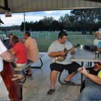 Ernie Evans and Brink Brinkman join an evening jam at the 2017 Florida Bluegrass Classic (2/21/17) - photo © Bill Warren