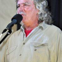 MC Greg Bird at the 2017 Florida Bluegrass Classic (2/21/17) - photo © Bill Warren