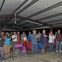 Early arrivals enjoying Tuesday night's show at the 2017 Florida Bluegrass Classic (2/21/17) - photo © Bill Warren