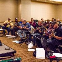 Mike Marshall mandolin workshop at Wintergrass 2017 - photo © Tara Linhardt