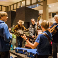 Jamming in the foyer at Wintergrass 2017 - photo © Tara Linhardt