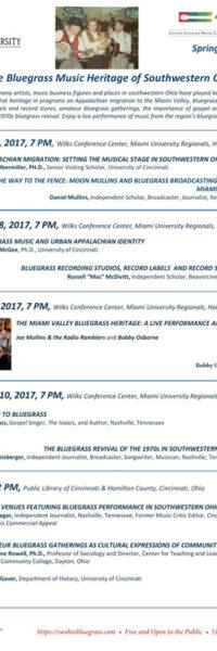 The Bluegrass Music Heritage of Southwestern Ohio