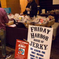 Really yummy and exotic types of jerky for sale at Wintergrass 2017 - photo © Tara Linhardt