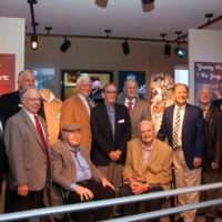 Roy Clark poses with the American Banjo Museum Board of Directors