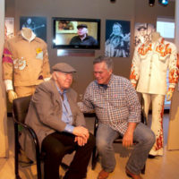 Roy Clark with his old drummer, Steve Short at the American Banjo Museum