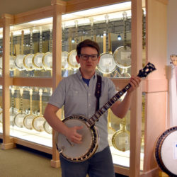 Lucas Ross at the American Banjo Museum - photo by Budd Walker