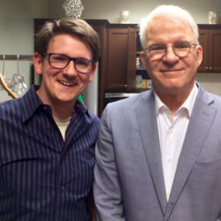 Lucas Ross with Steve Martin - photo by Marcus Ross