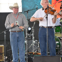 Barry Patton and Byron Berline at G Fest in Muskogee, OK - photo by Budd Hoass