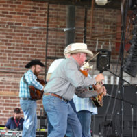 Barry Patton with the Byron Berline Band at G Fest in Muskogee, OK - photo by Budd Hoass