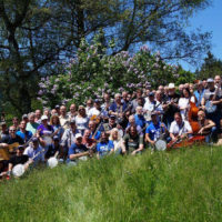 Full camp photo at Bluegrass Camp Germany 2017