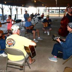 Pre-festival jam at the 45th annual Charlotte Bluegrass Festival - photo © Bill Warren